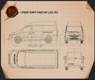 Citroen Jumpy Panel Van L2H2 2011 Blueprint
