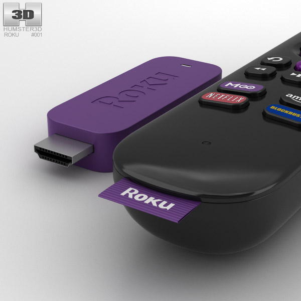 Roku Streaming Stick 3D model - Humster3D
