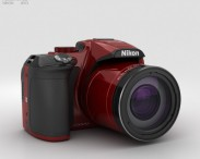 3D model of Nikon Coolpix P610 Red