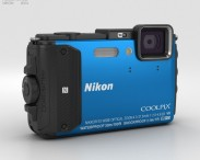 3D model of Nikon Coolpix AW130 Blue