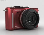 3D model of Panasonic Lumix DMC-GF1 Red