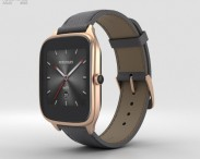 3D model of Asus Zenwatch 2 1.63-inch Rose Gold Case Taupe Leather Band