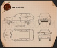 BMW X5 (E53) 2000 Blueprint