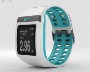 3D model of Nike+ SportWatch GPS White/Sport Turquoise