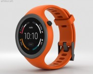 3D model of Motorola Moto 360 Sport Flame Orange