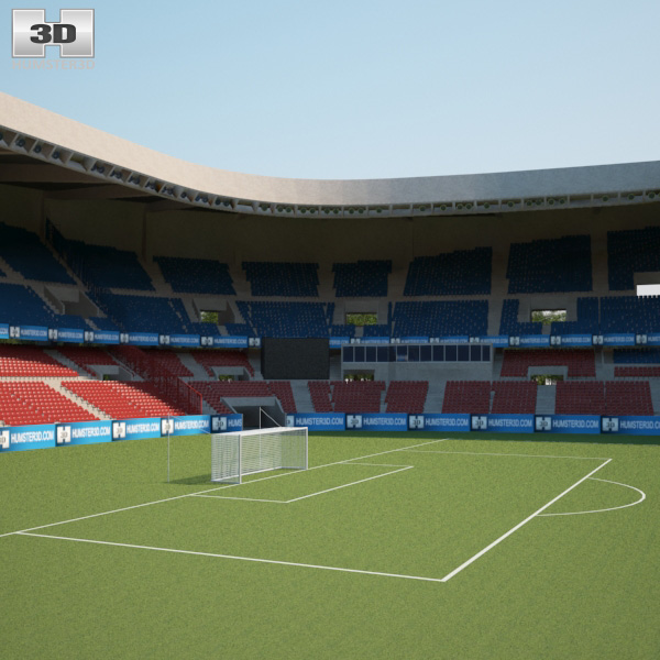 parc des princes 3d model humster3d