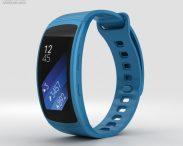 3D model of Samsung Gear Fit 2 Blue