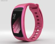 3D model of Samsung Gear Fit 2 Pink