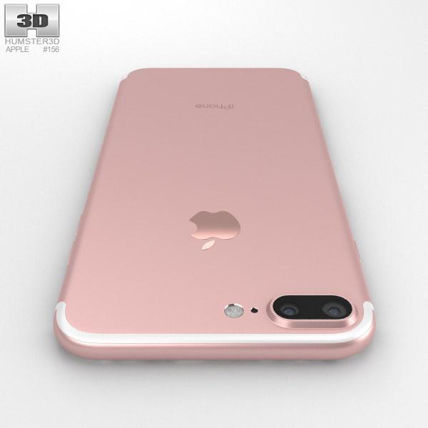 apple iphone 7 plus rose gold 3d model humster3d. Black Bedroom Furniture Sets. Home Design Ideas