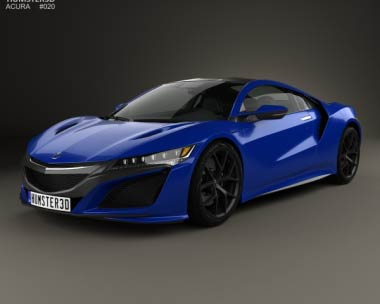 3D model of Acura NSX 2016