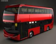 3D model of Alexander Dennis Enviro400H City Double Decker Bus 2015