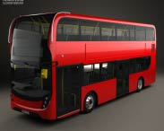 3D model of Alexander Dennis Enviro400 Double Decker Bus 2015