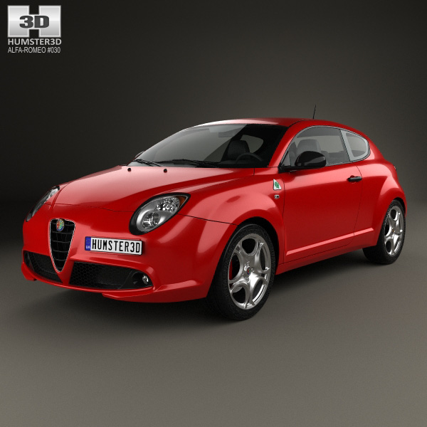 alfa romeo mito quadrifoglio verde 2014 3d model humster3d. Black Bedroom Furniture Sets. Home Design Ideas