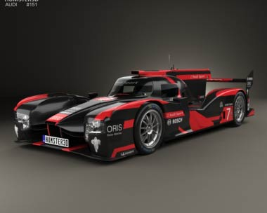 3D model of Audi R18 e-tron Quattro 2016