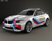 3D model of BMW M2 (F22) Coupe MotoGP Safety Car 2016