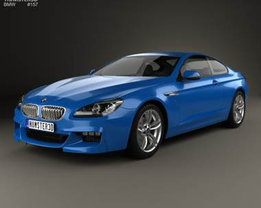 3D model of BMW 6 series (F13) Coupe M Sport Package 2015