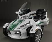 3D model of BRP Can-Am Spyder Police Dubai 2014