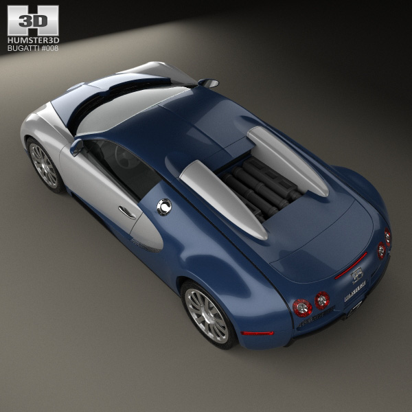 bugatti veyron 2005 3d model humster3d. Black Bedroom Furniture Sets. Home Design Ideas