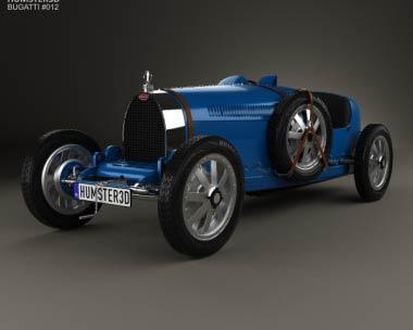 3D model of Bugatti Type 35 with HQ interior 1924