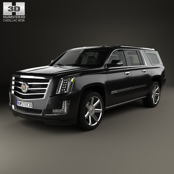 3D model of Cadillac Escalade ESV Platinum 2015