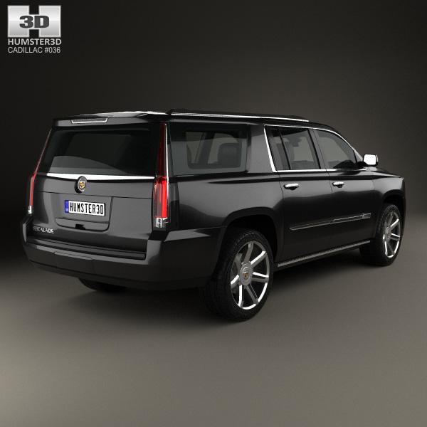 Cadillac Escalade ESV Platinum 2015 3D Model