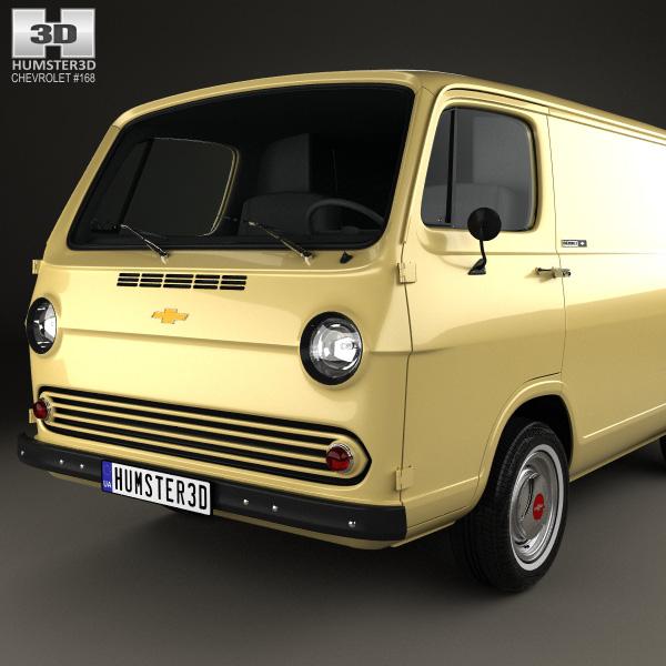 chevrolet g10 chevy van 1966 3d model humster3d