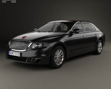 3D model of FAW Hongqi H7 2013