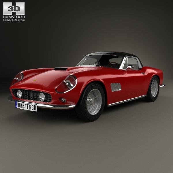 3D model of Ferrari 250 GT California SWB Spyder with HQ interior 1958