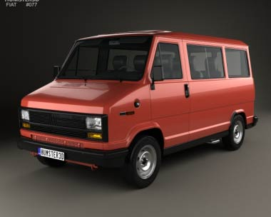3D model of Fiat Ducato Passenger Van 1981