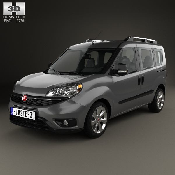 3D model of Fiat Doblo Passenger L1H1 2015
