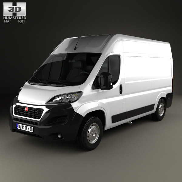 fiat ducato panel van l2h2 2014 3d model humster3d. Black Bedroom Furniture Sets. Home Design Ideas