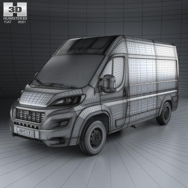 fiat ducato panel van l2h2 2014 3d model humster3d. Black Bedroom Furniture Sets. Home Design Ideas