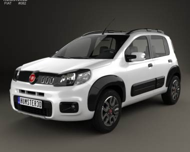 3D model of Fiat Uno Way 2015