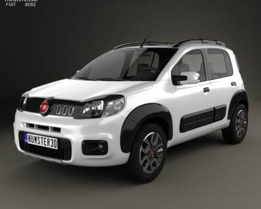 3D model of Fiat Uno Way 2015