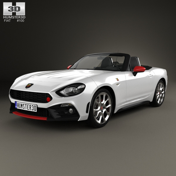 Fiat 124 Spider Abarth 2017 3d Model Humster3d