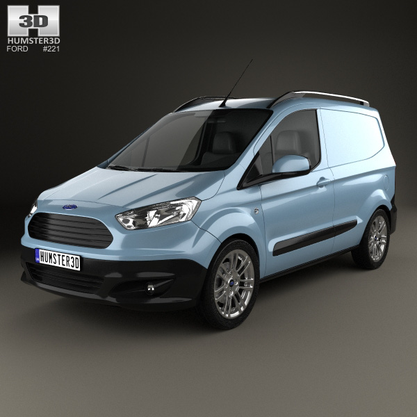 3D model of Ford Transit Courier 2015