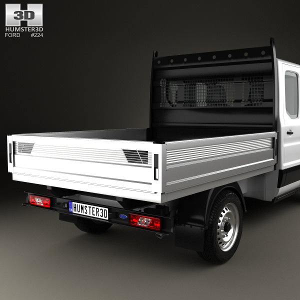 Transit Dropside Dimensions >> Ford Transit Double Cab Dropside 2014 3D model - Humster3D
