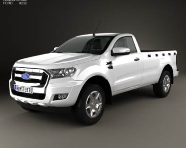 3D model of Ford Ranger Single Cab XL 2015