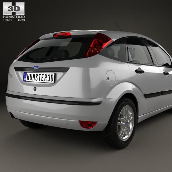 Ford focus 5 door hatchback 2002 3d model humster3d for 02 ford focus 3 door