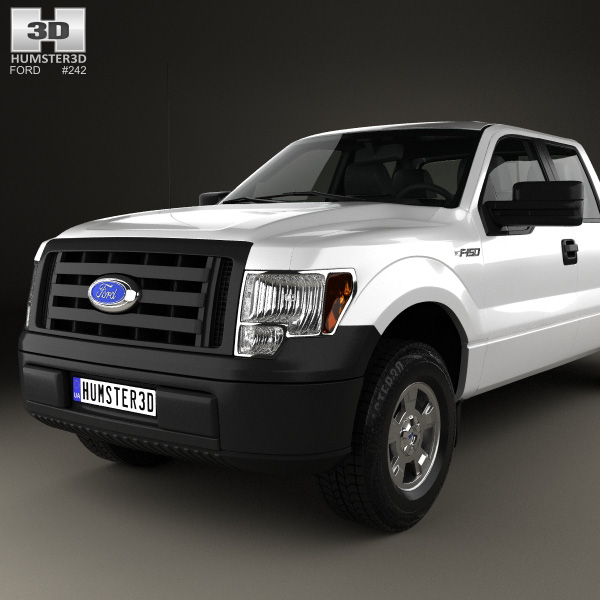 ford f 150 super crew cab xl 2014 3d model humster3d. Black Bedroom Furniture Sets. Home Design Ideas