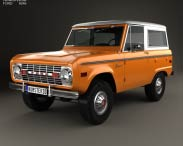 3D model of Ford Bronco 1975