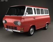 3D model of Ford E-Series Falcon Club Wagon 1963