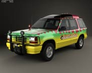 3D model of Ford Explorer Jurrasic Park 1993