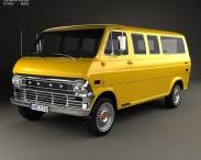 3D model of Ford E-Series Econoline Club Wagon 1971