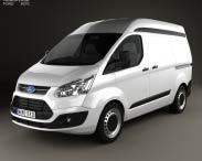 3D model of Ford Transit Custom Panel Van L1H2 2012