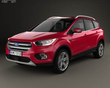 3D model of Ford Escape Titanium 2017