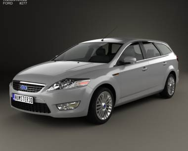 3D model of Ford Mondeo Turnier 2007