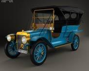 3D model of Ford Model K Touring 1906