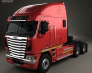 3D model of Freightliner Argosy Tractor Truck 2011