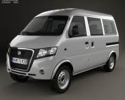 3D model of Gonow Minivan 2009